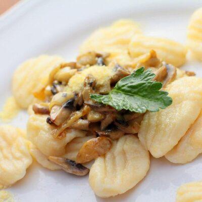 Potato Gnocchi Closeup Image